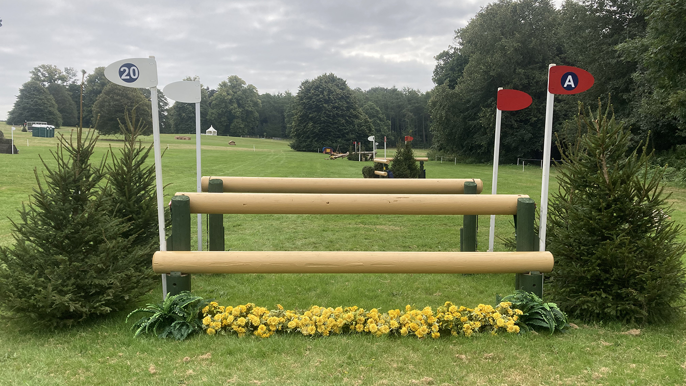 Bicton Horse Trials cross-country course: five-star fence 20a
