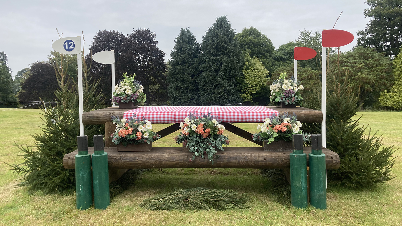 Bicton Horse Trials cross-country course: five-star fence 12