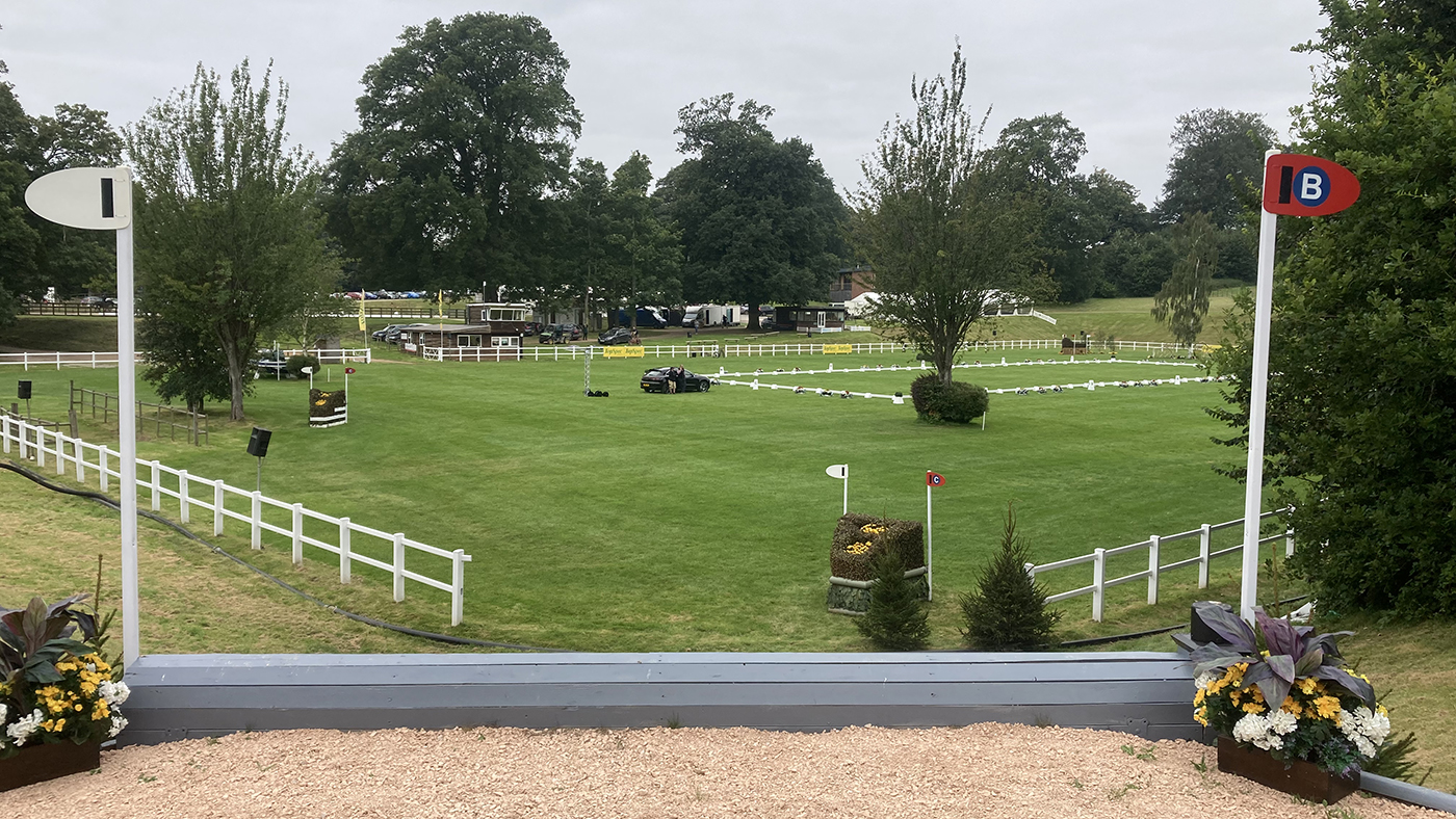 Bicton Horse Trials cross-country course: five-star fence 14b