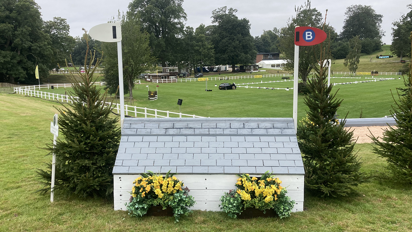 Bicton Horse Trials cross-country course: five-star fence 14b alternative