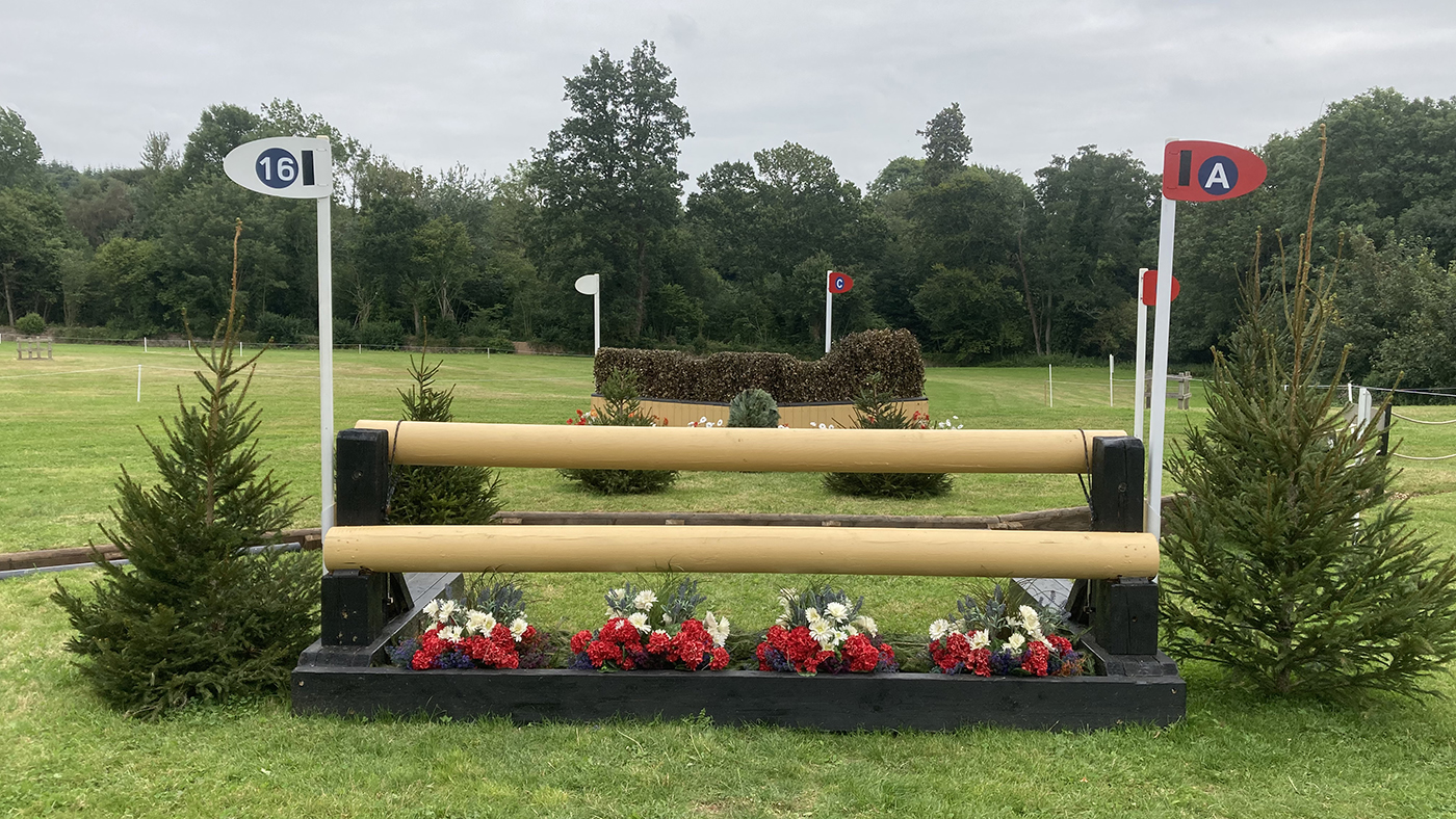 Bicton Horse Trials cross-country course: five-star fence 16a