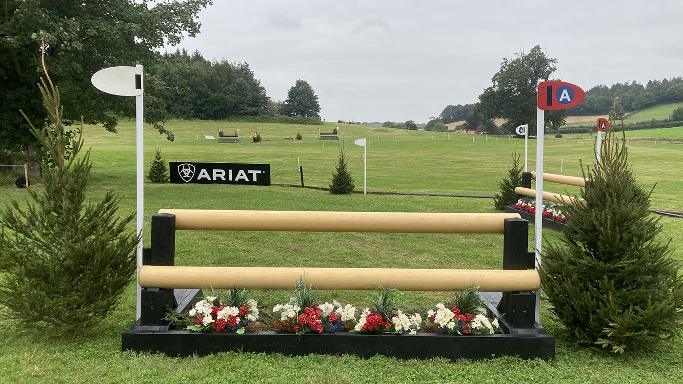 Bicton Horse Trials cross-country course: five-star fence 16a alternative