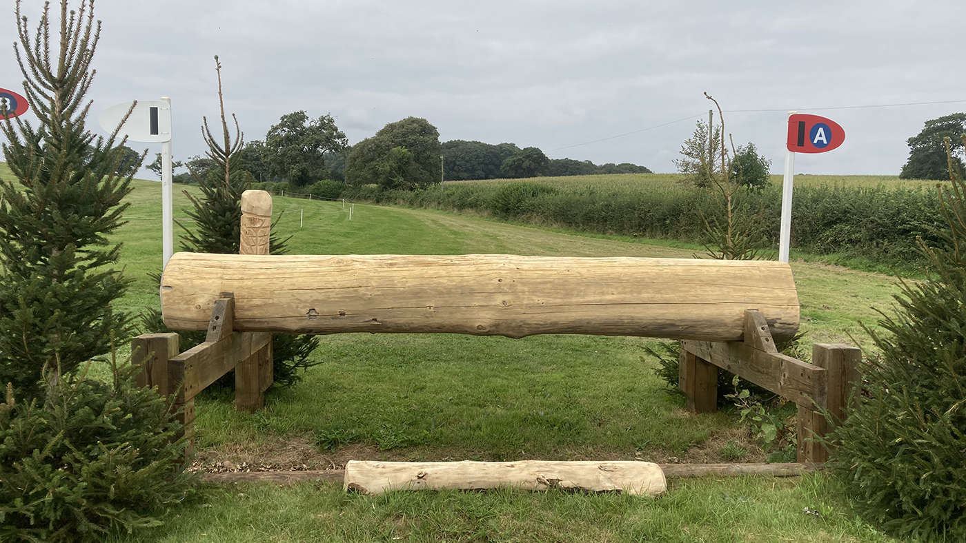 Bicton Horse Trials cross-country course: five-star fence 18a alternative