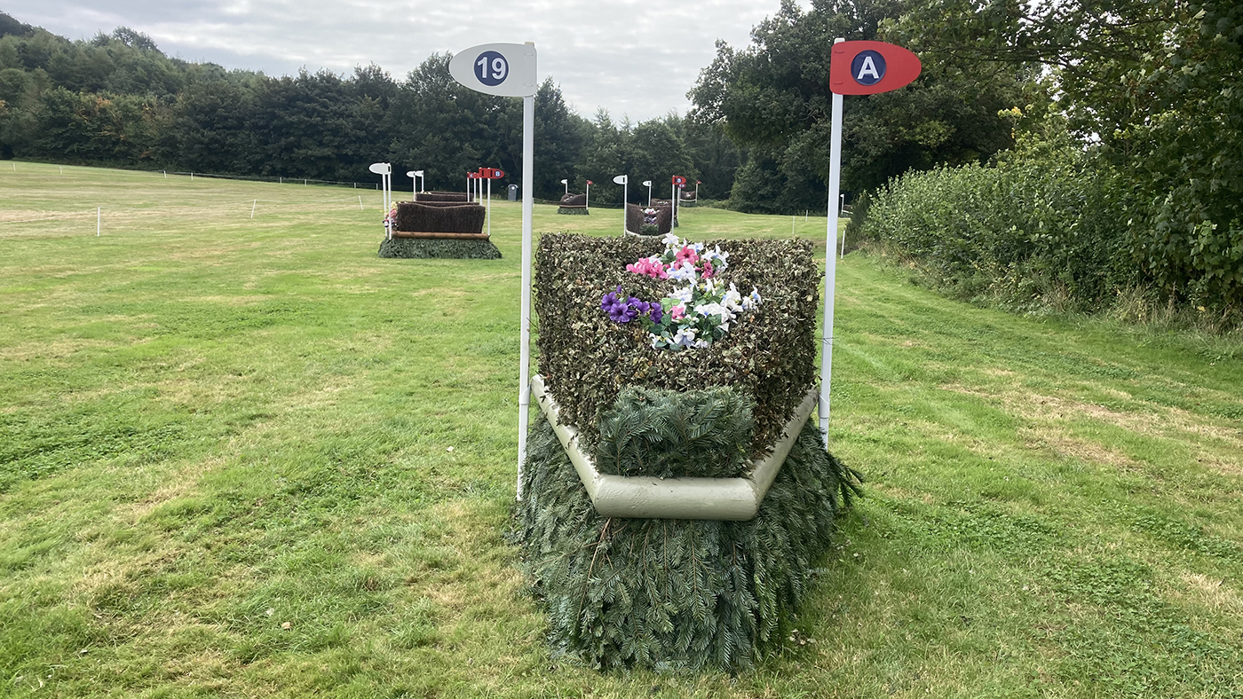 Bicton Horse Trials cross-country course: five-star fence 19a
