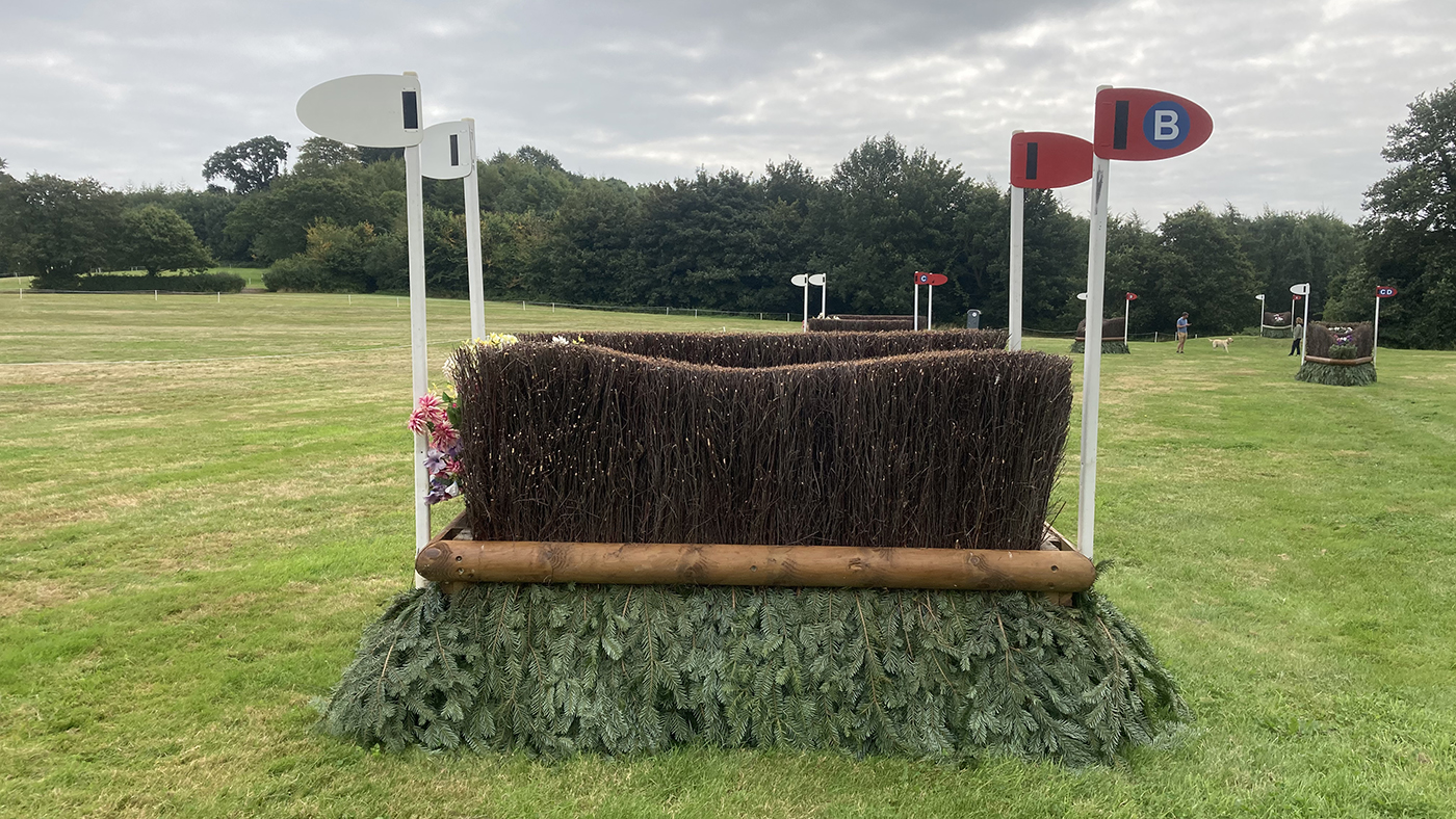 Bicton Horse Trials cross-country course: five-star fence 19b alternative
