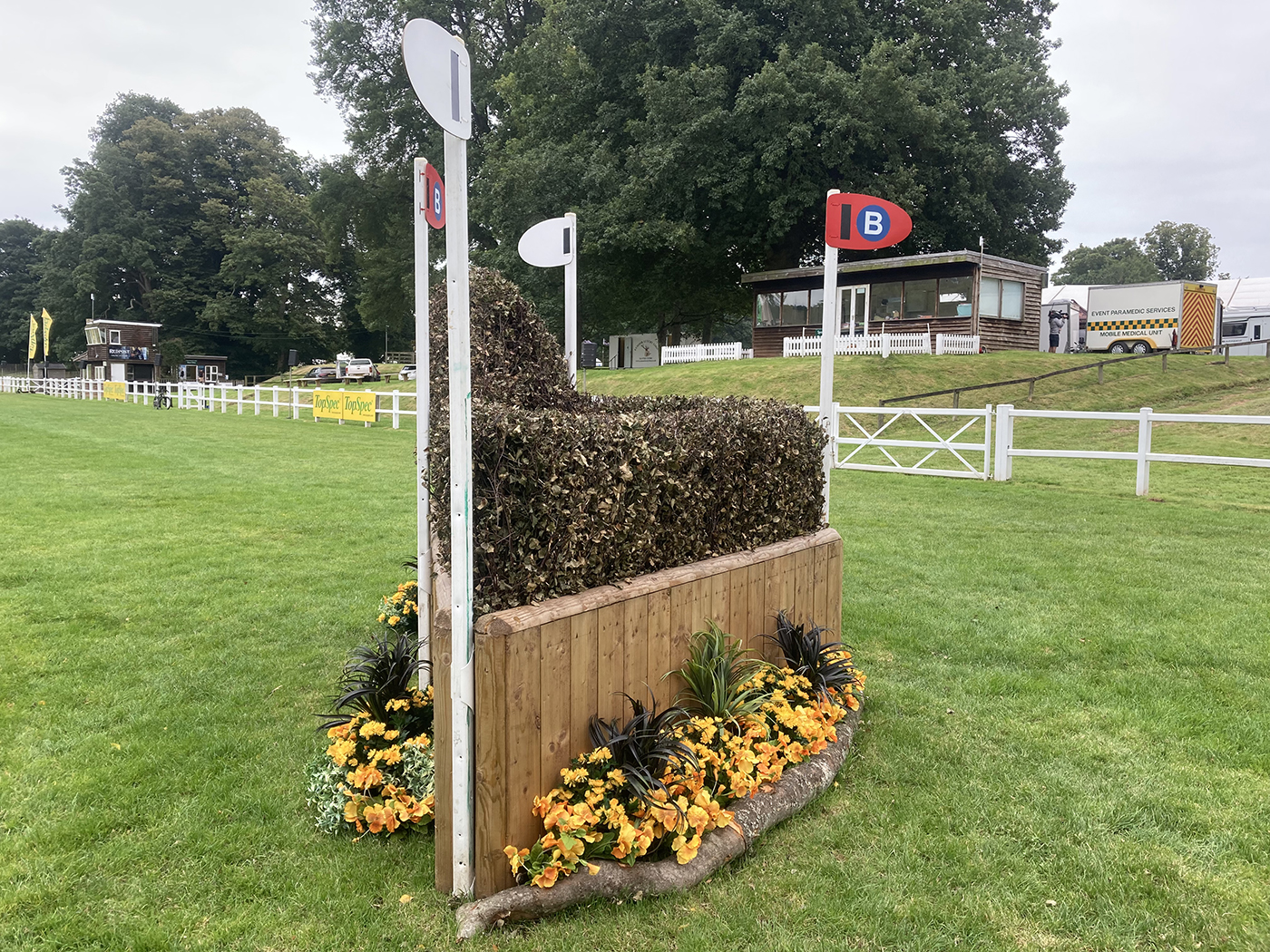 Bicton Horse Trials cross-country course: five-star fence 9b