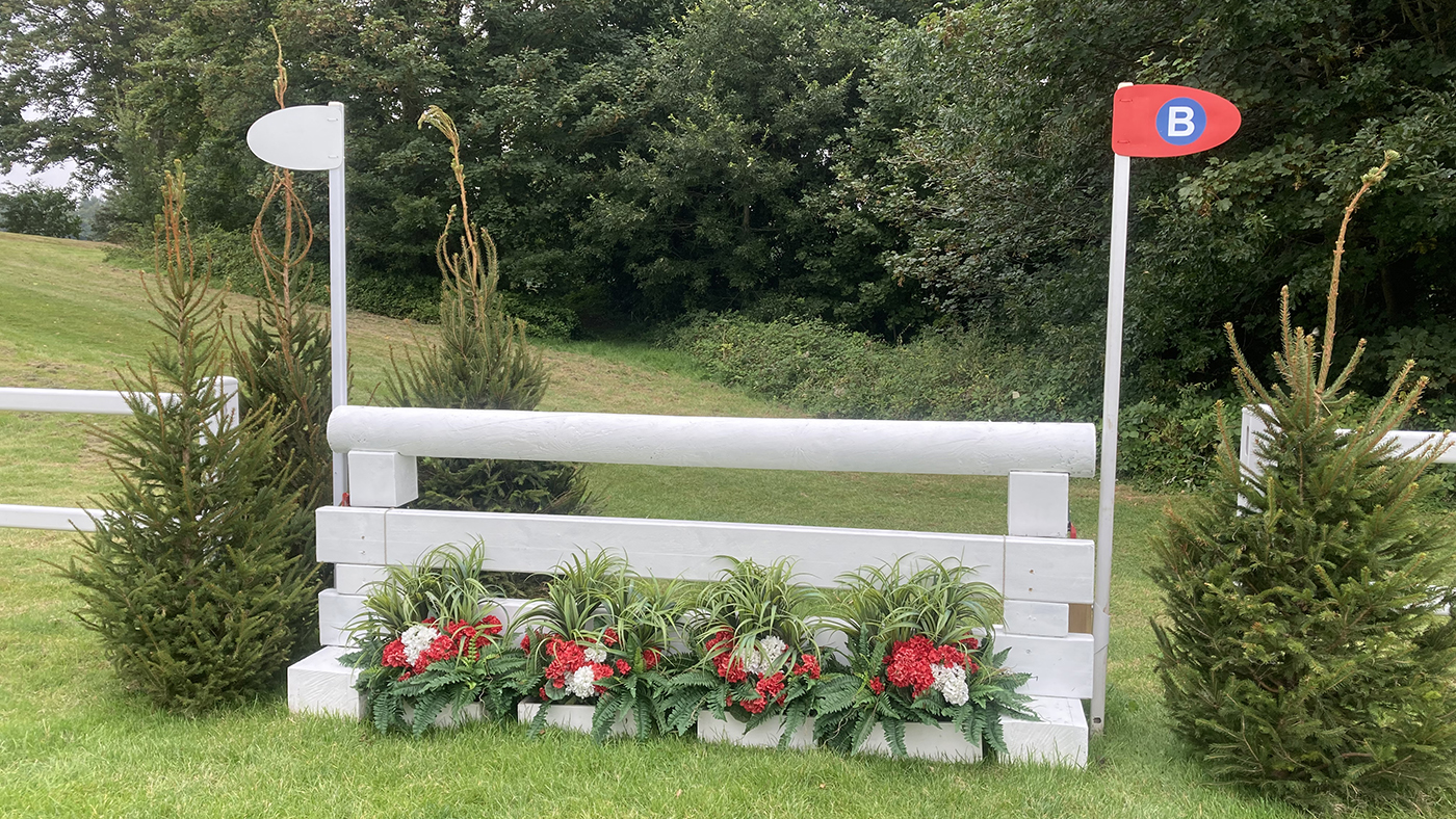 Bicton Horse Trials cross-country course: five-star fence 15b