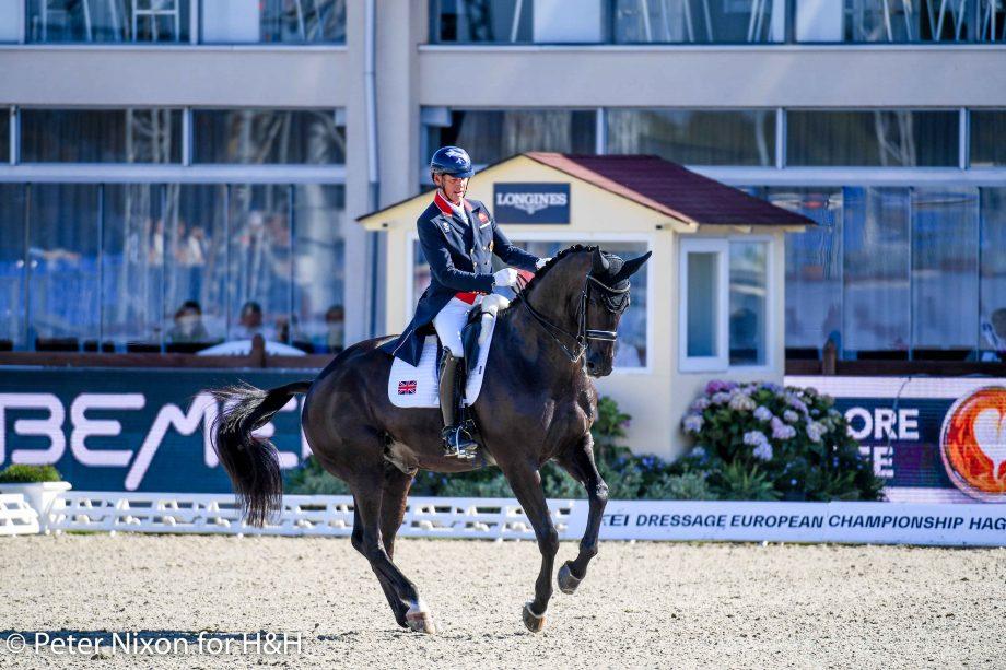 European Dressage Championships Carl Hester riding En Vogue during the 2021 Championships in Hagen