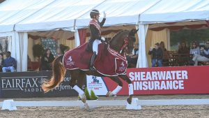 Charlotte Dujarding and Imhotep are crowned overall inter I champions at the Lemieux National Dressage Championships