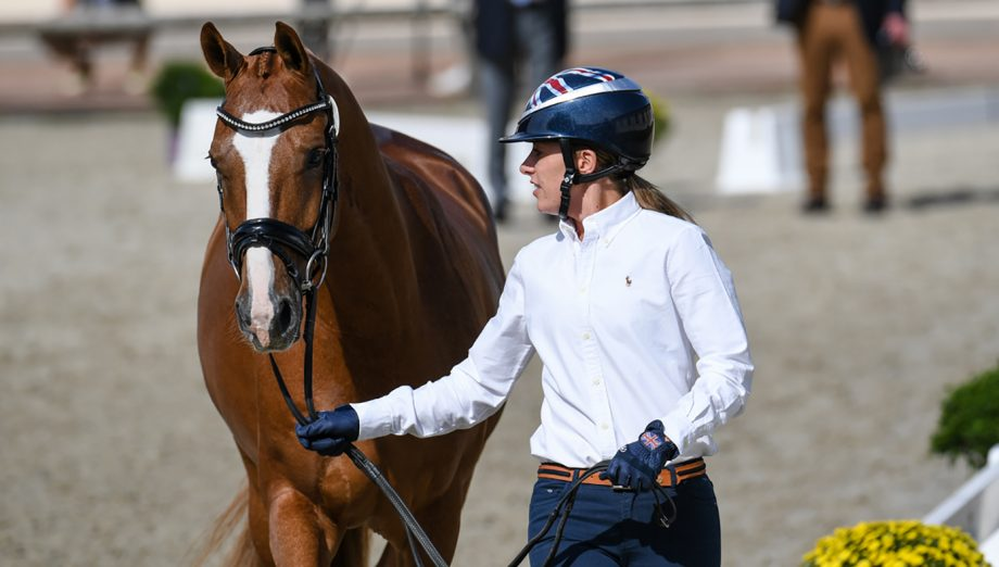 European Dressage Championships trot-up - Charlotte Dujardin and Gio