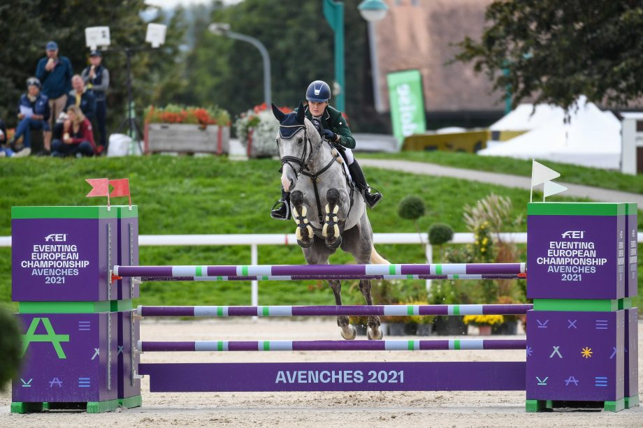 European Eventing Championships showjumping Clare Abbott and Jewelent in the final phase