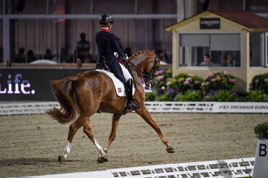 European Dressage Championships Charlotte Dujardin riding Gio in the grand prix special in Hagen