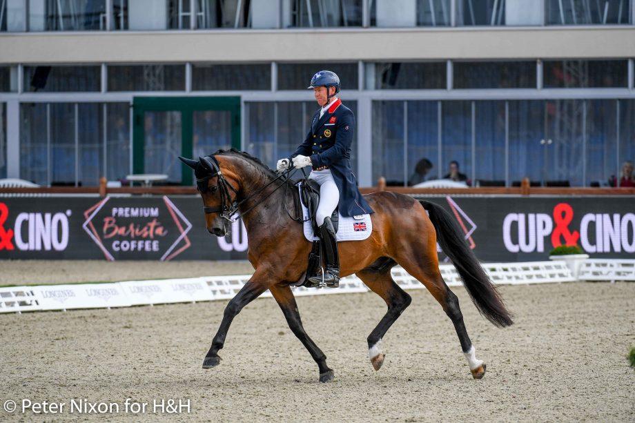 European Dressage Championships Gareth Hughes and Sintano van Hof Olympia