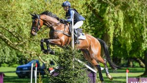 Blenheim Horse Trials dressage: Ros Canter and Izilot DHI have taken the lead in the young horse class