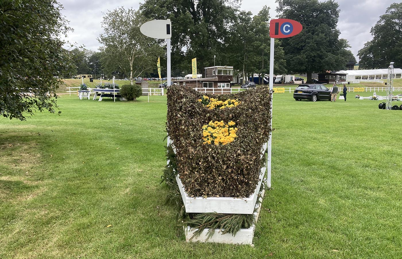 Bicton Horse Trials cross-country course: five-star fence 14c alternative