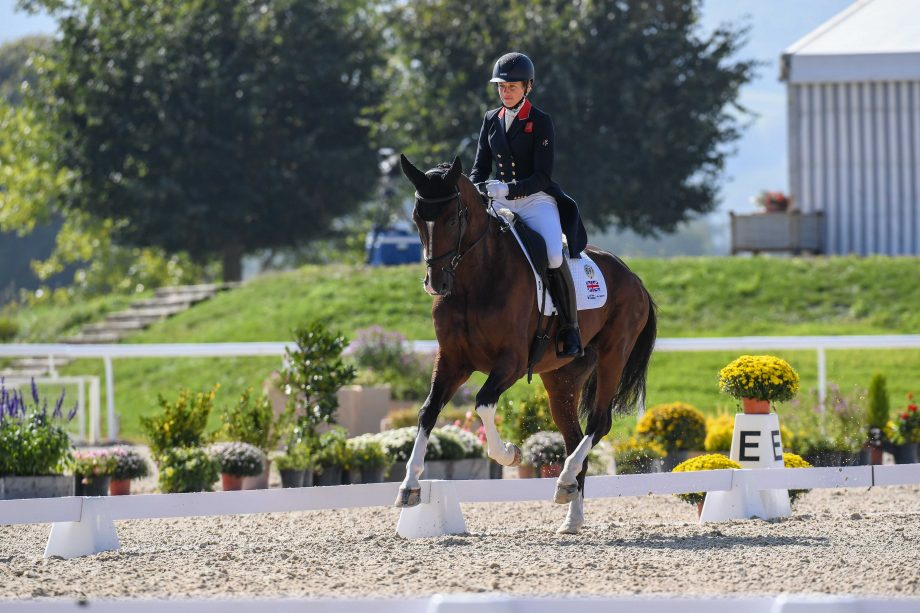 European Eventing Championships dressage: Izzy TAYLOR (GBR) riding Monkeying Around during the dressage phase at the FEI Eventing European Championships at Avenches held at IENA in Switzerland between the 23-26 September 2021