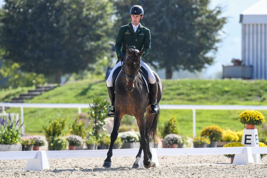 European Eventing Championships dressage Joseph MURPHY (IRL) riding Cesar V during the dressage phase at the FEI Eventing European Championships at Avenches held at IENA in Switzerland between the 23-26 September 2021