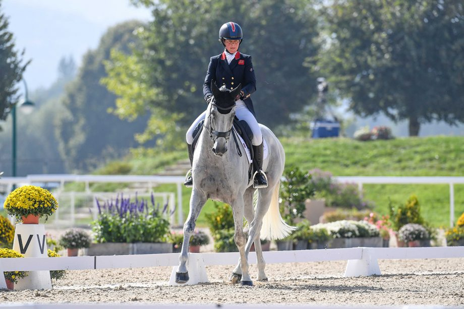 European Eventing Championships dressage: Kitty King and Vendredi Biats