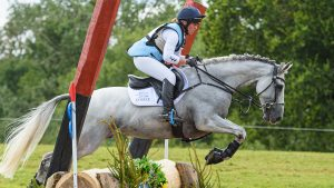 European Eventing Championships cross-country: British team members Kitty King and Vendredi Biats