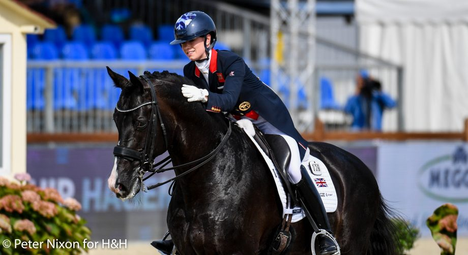 European Dressage Championships freestyle times Lotte Fry riding Everdale during the Grand Prix - Team Competition of the Dressage European Championship held at Hagen A.T.W near Osnabrück in Germany between the 7-12th September 2021