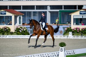 European Dressage Championships Lucy Jane Amy riding Rudy during the Inter II - U25 Team Competition of the Dressage European Championship held at Hagen A.T.W near Osnabrück in Germany between the 7-12th September 2021