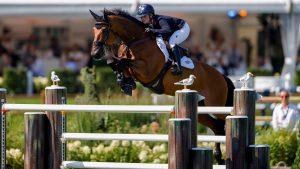 Emily Moffitt riding Winning Good in the European Showjumping Championships