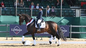 National Dressage Championships novice gold winners Sarah Rogers and Full Moon II