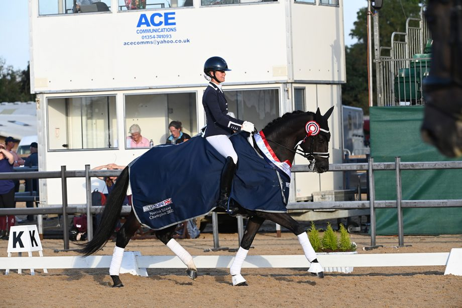 Georgie Nicholls and Katie Haigh's Woodcroft Kika Quina at the national dressage championships