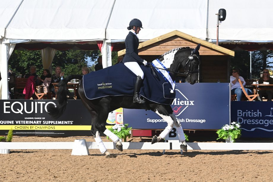 Freya Metters and Raine and Gary Harthern's Heathersedge Just A Vision at the national dressage championships