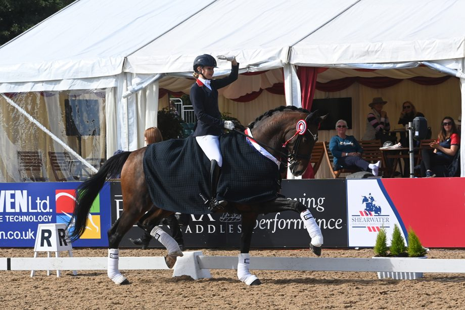 Annabella Pidgley lands first and second in the under-21s championship at the National Dressage Championships