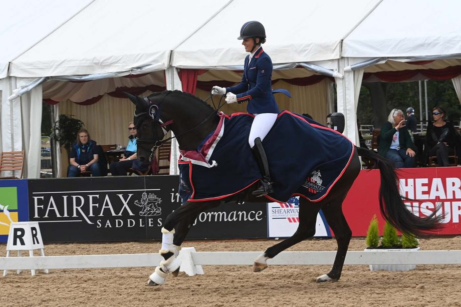 Charlotte Dujardin riding Mon Amour at the National Dressage Championships