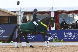 Jade Clark and Jemimah HH win the medium silver at the National Dressage Championships