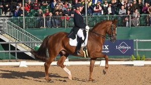 Emile Faurie is 2021 grand prix national champion at National Dressage Championships riding Dono Di Maggio
