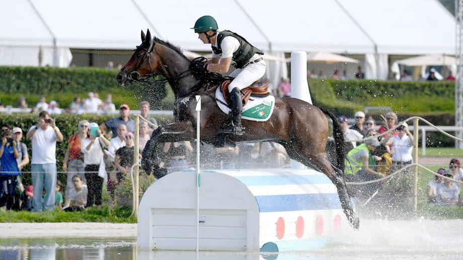 Padraig McCarthy riding Leonidas II at the 2021 European Championships