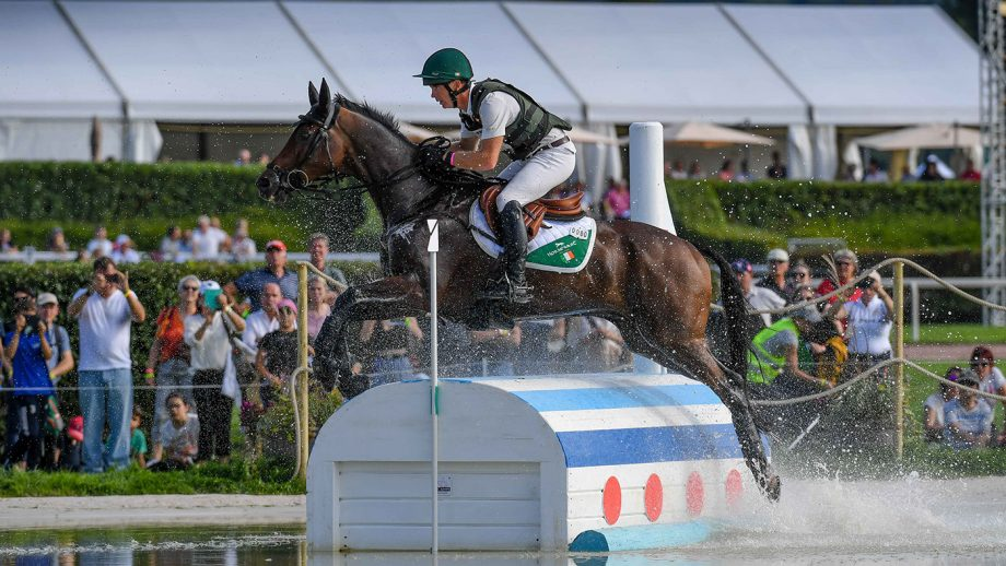 European Eventing Championships cross-country: Padraig McCarthy and Leonidas II