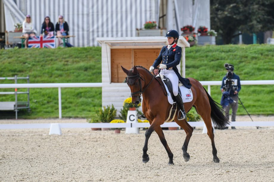 European Eventing Championships dressage Piggy MARCH (GBR) riding Brookfield Inocent during the dressage phase at the FEI Eventing European Championships at Avenches held at IENA in Switzerland between the 23-26 September 2021