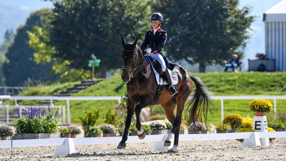 European Eventing Championships dressage: Ros Canter and Allstar B