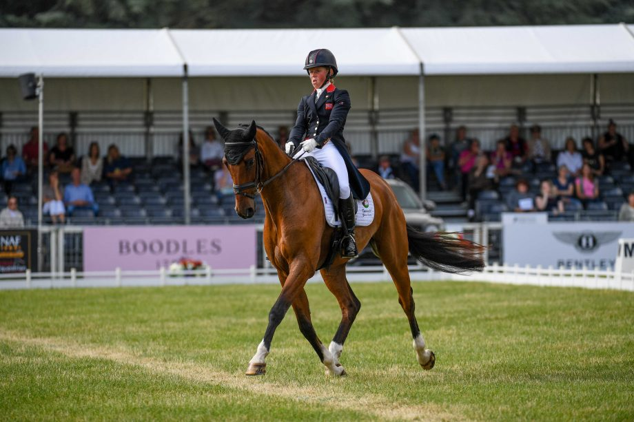 Blenheim Horse Trials dressage; Ros Canter and Izilot DHI