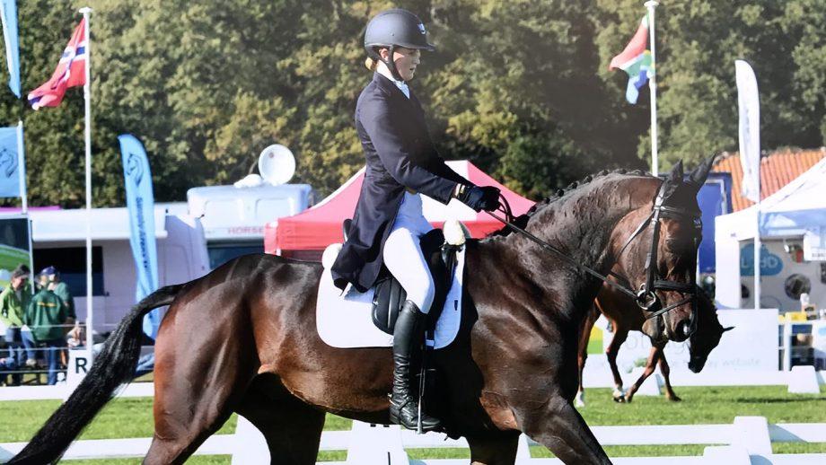 Rose Nesbitt and EG Michealangelo in the Blenheim Horse Trials dresage phase
