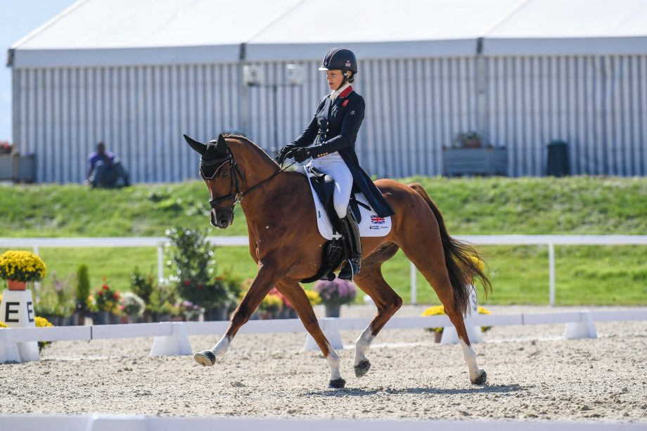 European Eventing Championships dressage Sarah BULLIMORE (GBR) riding Corouet during the dressage phase at the FEI Eventing European Championships at Avenches held at IENA in Switzerland between the 23-26 September 2021