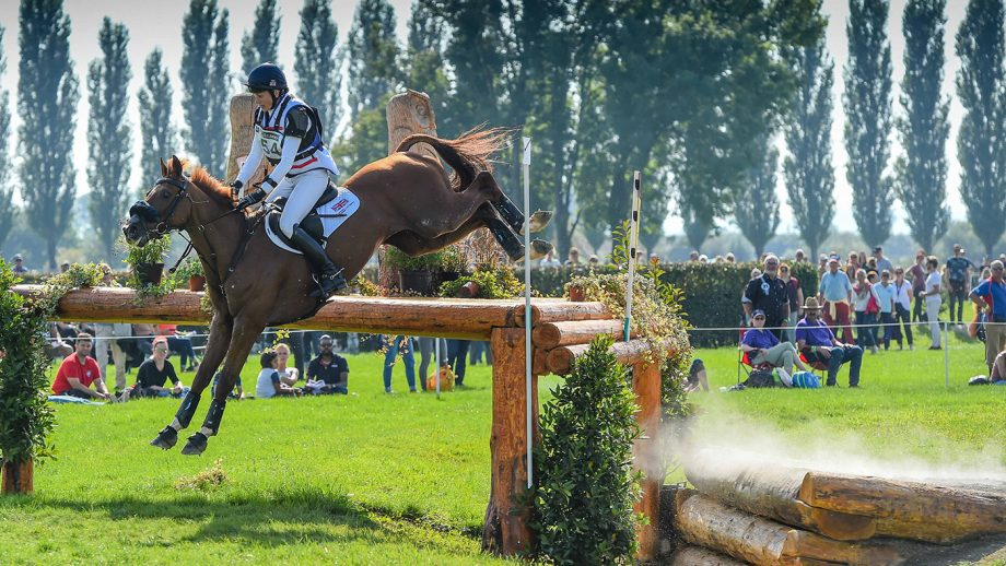 European Eventing Championships cross-country: Sarah Bullimore and Corouet