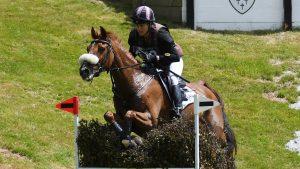 European Eventing Championships cross-country: British squad members Sarah Bullimore and Corouet