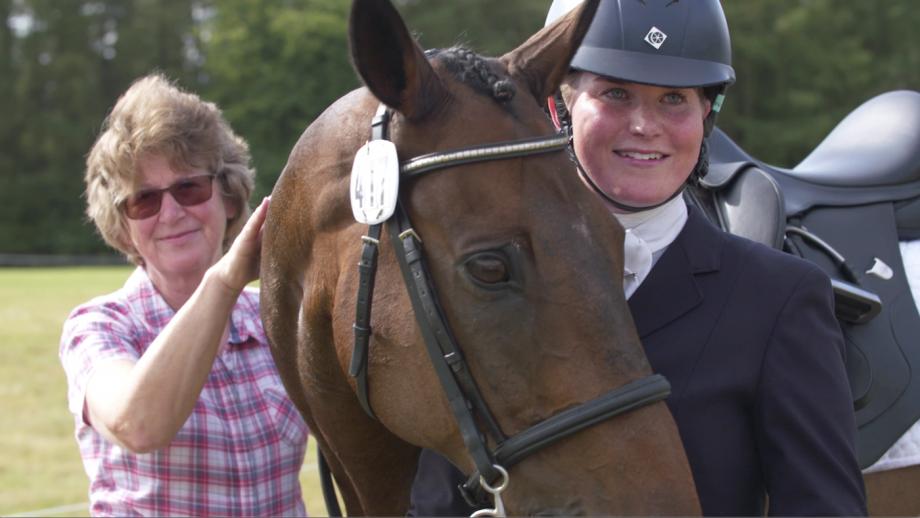 Pineau De Re at Blenheim Horse Trials in the Retraining of Racehorses dressage championships