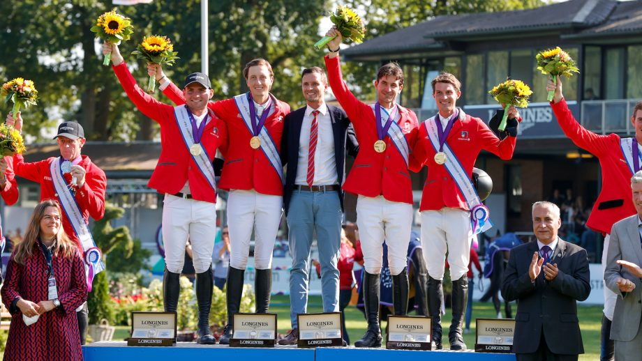 European Showjumping Championships team gold medallists Switzerland