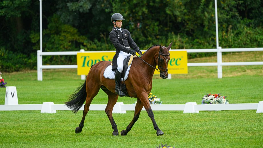 Bicton Horse Trials dressage: James Avery and Mr Sneezy