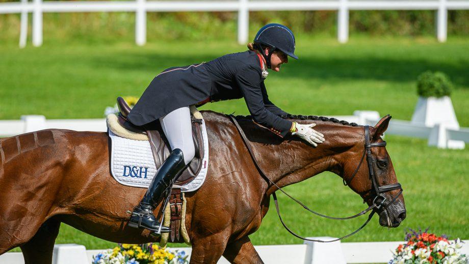 Bicton Horse Trials dressage: Piggy French and Vanir Kamira