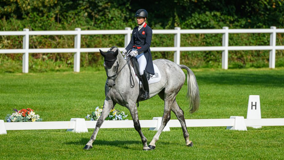 Bicton Horse Trials dressage: Izzy Taylor and Fonbherna Lancer