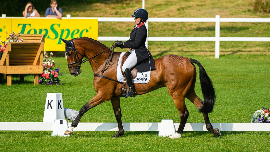 Bicton Horse Trials dressage: Pippa Funnell and Billy Walk On