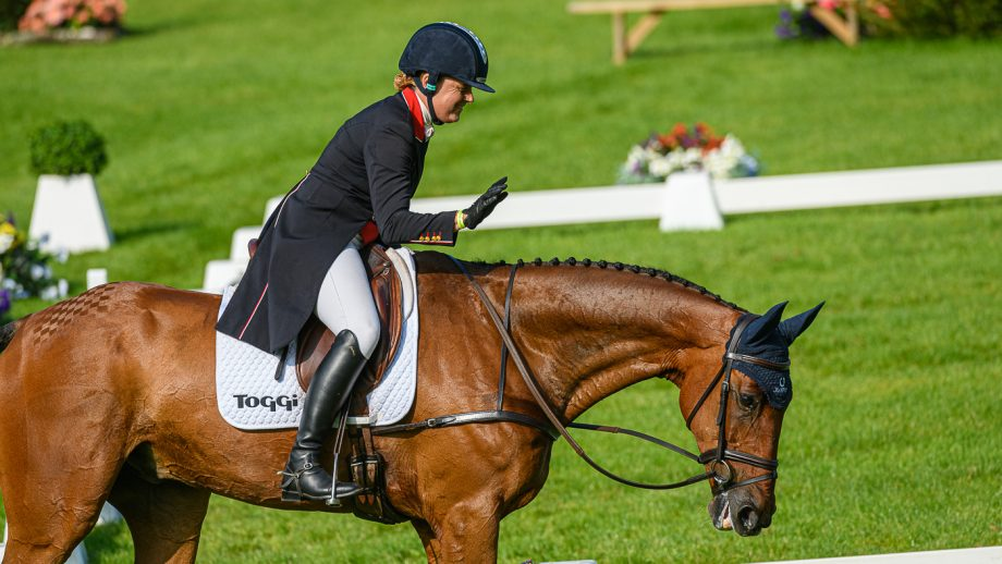 Bicton Horse Trials dressage result: Pippa Funnell and Billy Walk On lead