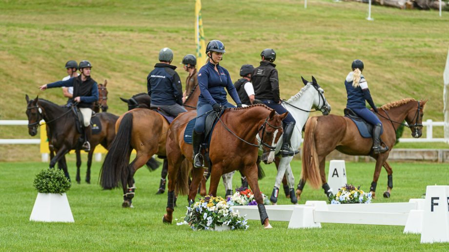 Bicton Horse Trials dressage times: familiarisation in the main arena
